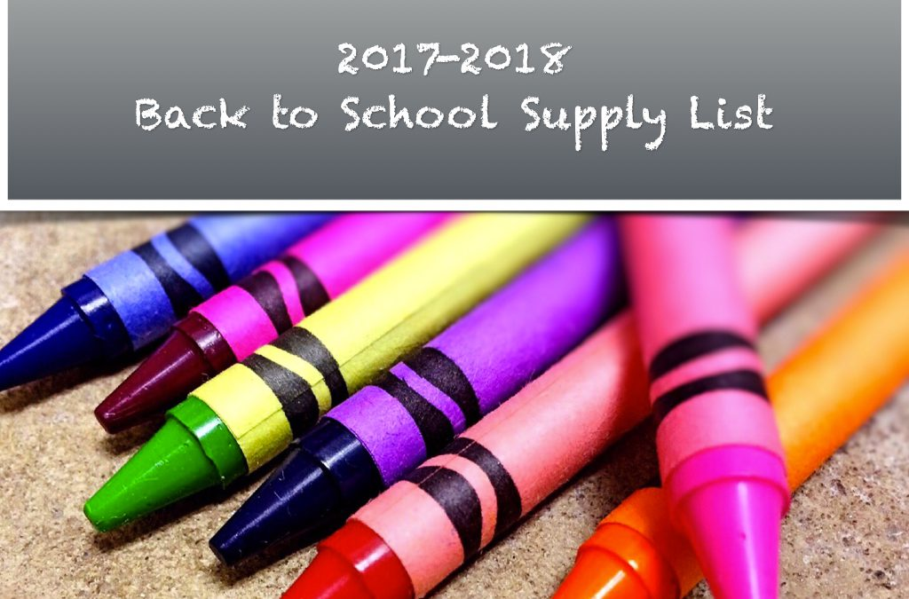 2017 – 2018 School Supply Lists