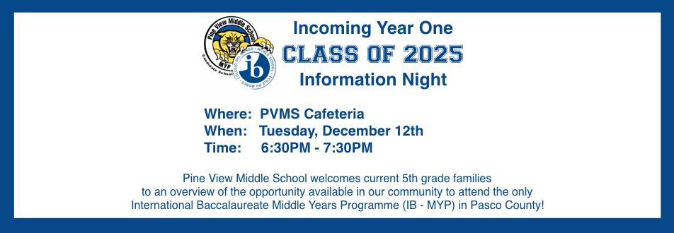 PVMS Class of 2025 Night