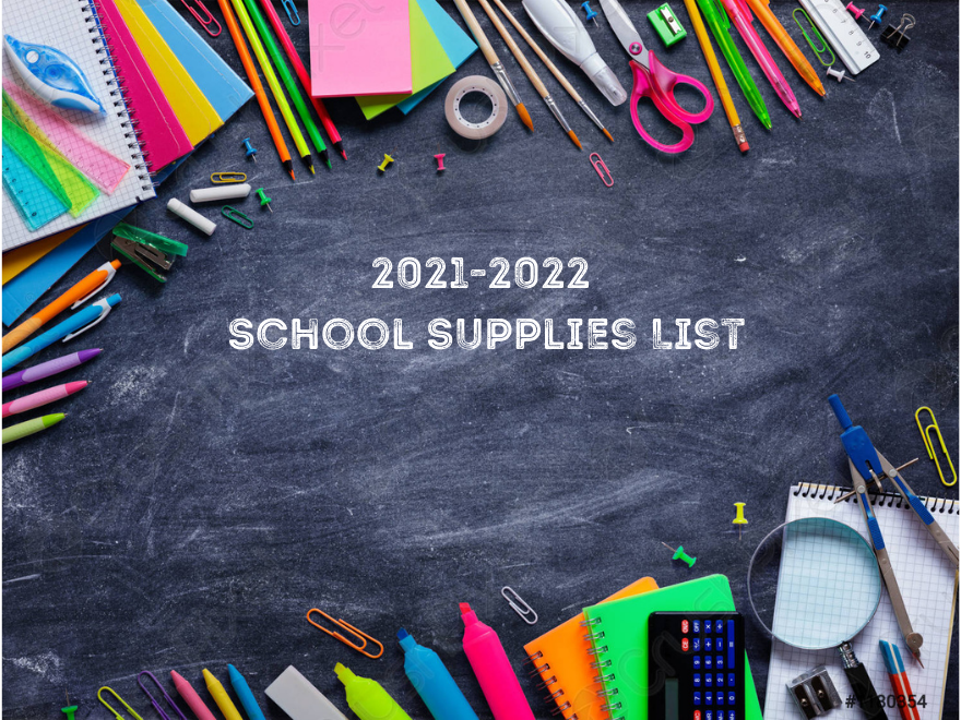 2021-2022 School Supplies List